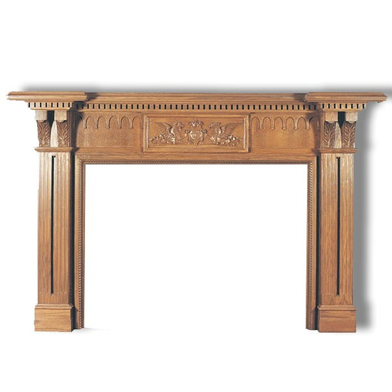 Fireplace, surround piece, decor, etc doesn't come with the Avondale - You only get the wood mantel as seen here.