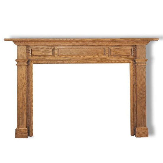 Fireplace, surround piece, decor, etc doesn't come with the mantel- You only get the wood mantel as seen here.
