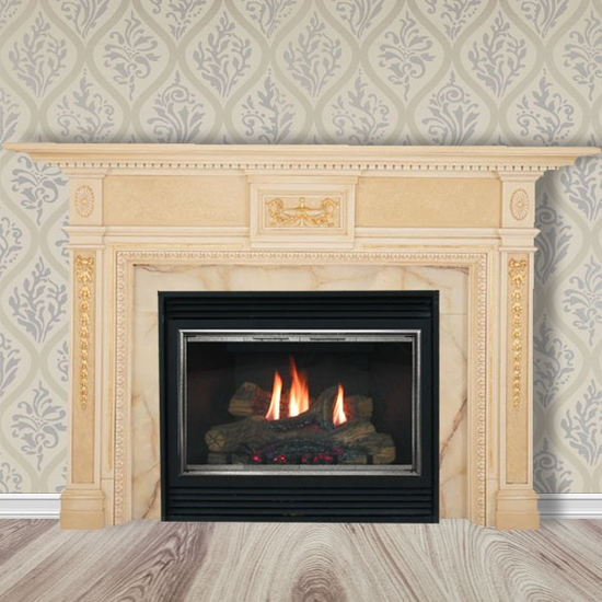 The Clifton fireplace mantel.