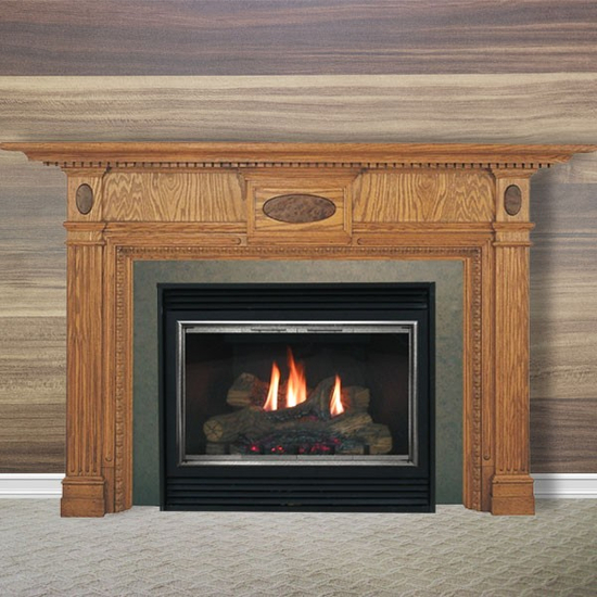 The Essex fireplace mantel.