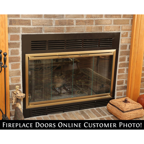 Belmont Fireplace Door (ordered fireplace curtain mesh separately)