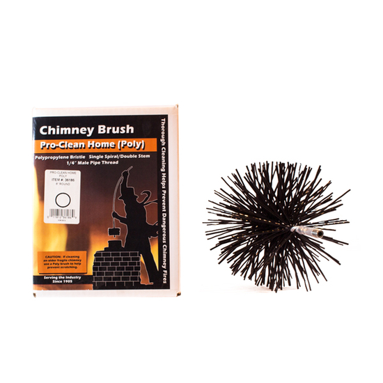 Round Polymer Chimney Brush