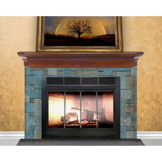 Firelyte  Zero Clearance Fireplace Door in Matte Black