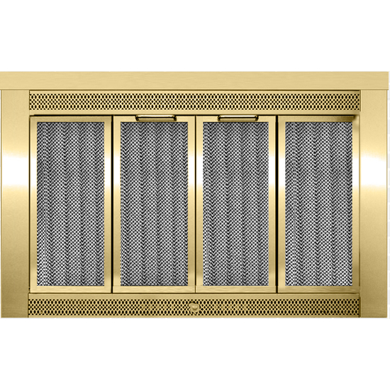 Sentry Traditional Fireplace Doors in Antique Brass