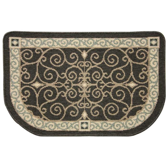 Eastly Midnight Fire Resistant Hearth Rug