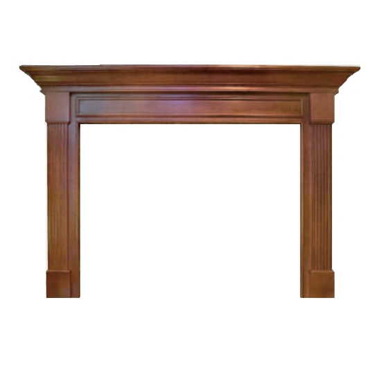 Beechwood Mantel - shown here in Cherry with a cordovan finish