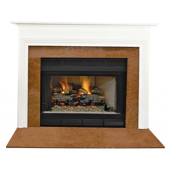 Bellamy Mantel - shown here painted in white.
