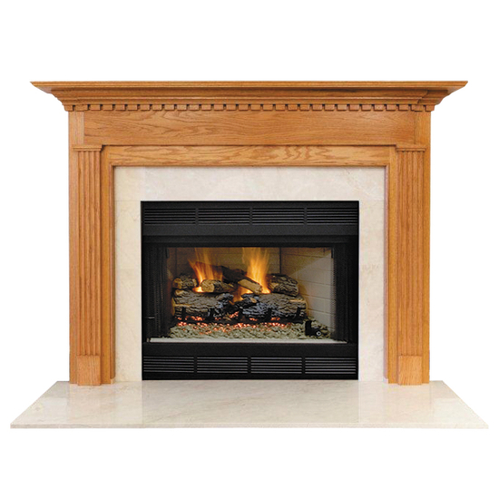 Quintin Mantel - shown here in Oak with a clear coat finish.