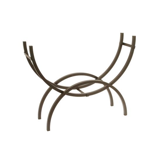 Medium Crescent Log Rack in black