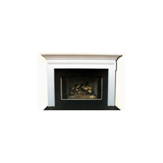 Seton Mantel - shown here painted in white.