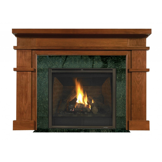 Clayton Mantel - shown here in Cherry with a fruitwood finish