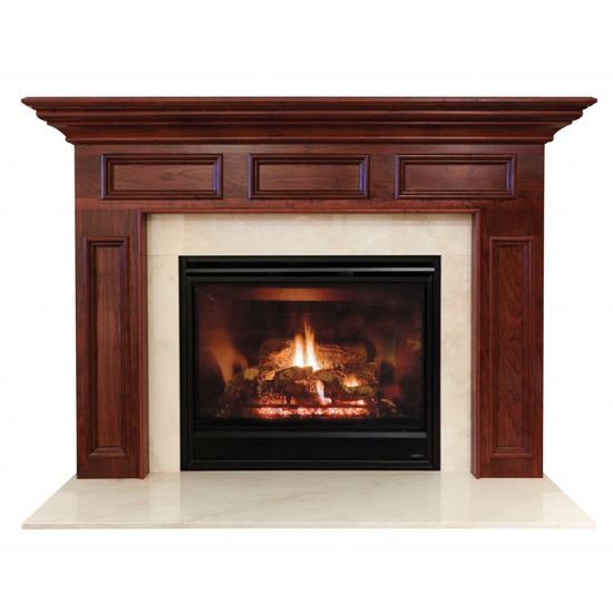Homewood Mantel - shown here in Cherry  with a mahogany finish.