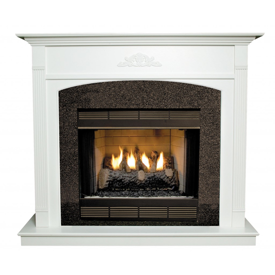 Arched Arden Wood Fireplace Mantel - shown here painted in white.