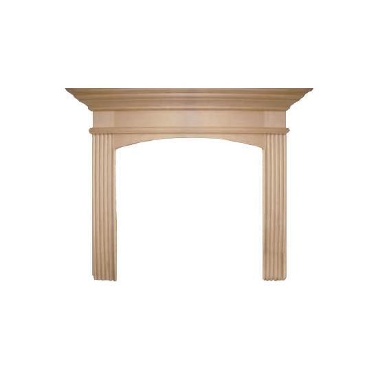 Arched Sandringham Wood Fireplace Mantel
