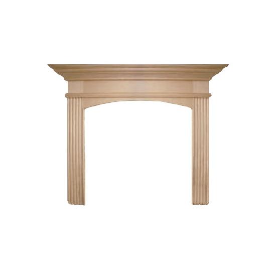 Arched Sandringham Wood Fireplace Mantel