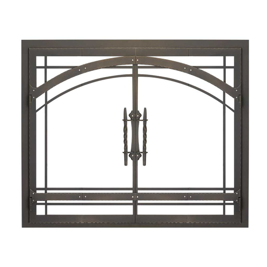 Madrid Zero Clearance Fireplace Door in Classic Bronze