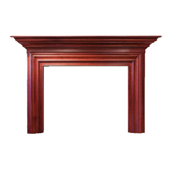 Newart Wood Fireplace Mantel