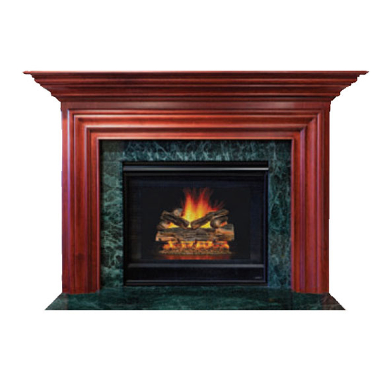 Newart Mantel - shown here painted in Cherry with Cordovan finish