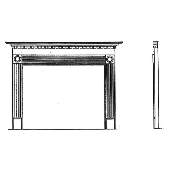 Rickarton Wood Fireplace Mantel