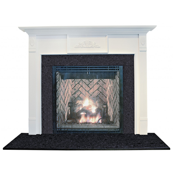 Stirling Wood Fireplace Mantel - shown here painted in white