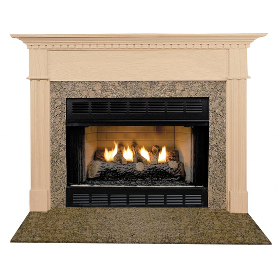 Willington Mantel - shown here in Maple with a clear coat finish