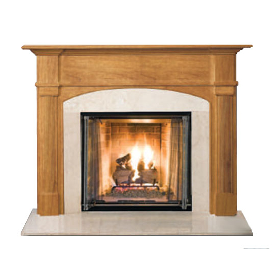 Arched Chateau Mantel - shown here in Cherry with Fruitwood finish
