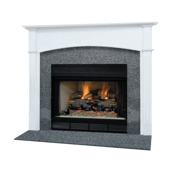 Arched Whitmore Mantel - shown here painted in white