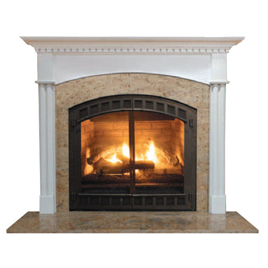 Arched Willington Mantel - shown here in painted white