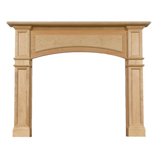 Arched Kingscote Wood Fireplace Mantel