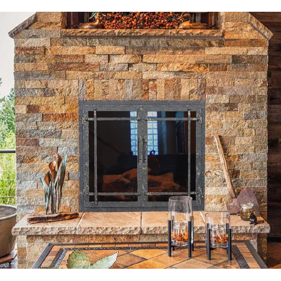 Allegheny Masonry Fireplace Door In Room Setting