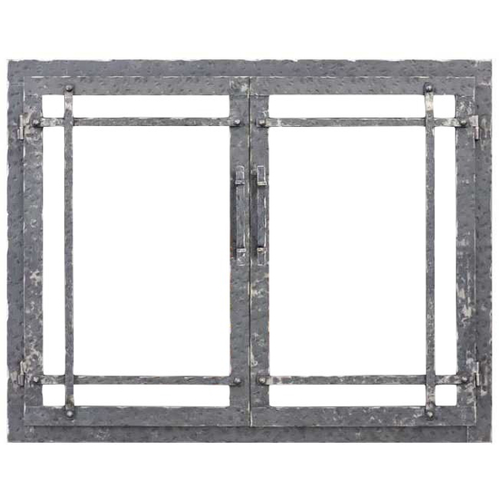 Allegheny Masonry Fireplace Door with Clear Natural Finish