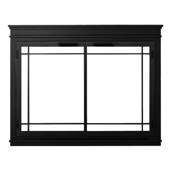 The Mantel Masonry Fireplace Door in Black