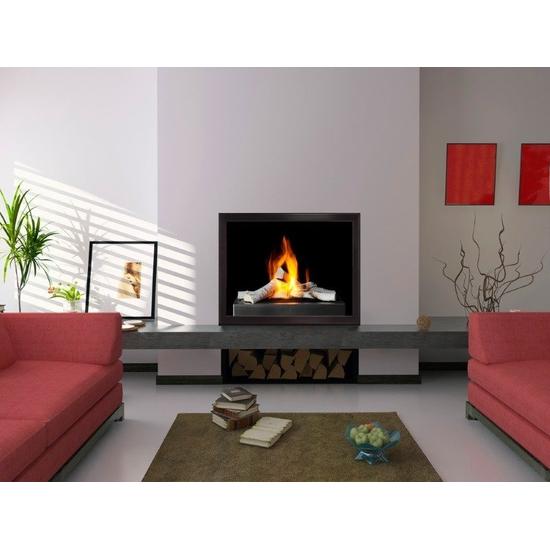Slim Moderne ZC Fireplace Door in Espresso