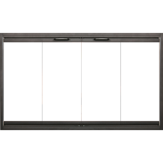 Thin-Line Fireplace Door in Black