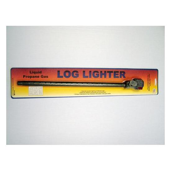Angled log lighter for Propane