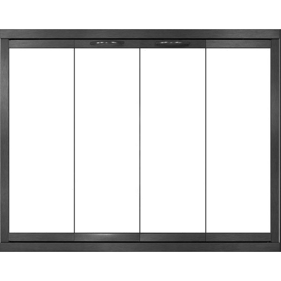 Shiloh ZC Fireplace Door - Matte Black - Bi-fold Doors