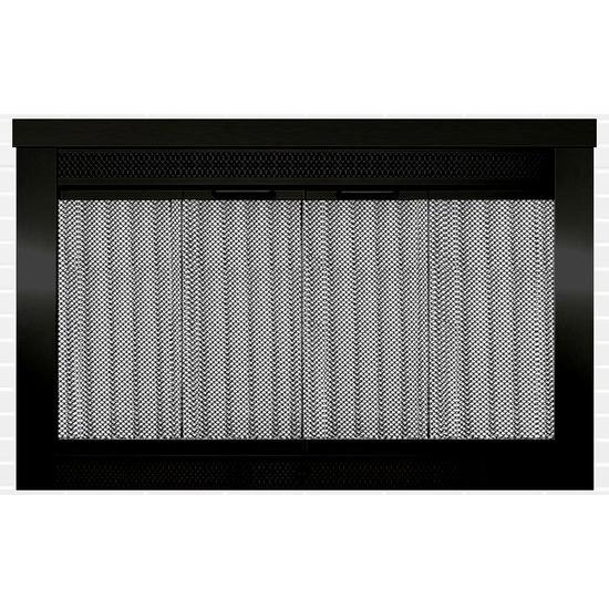 Sentry Premiere Fireplace Door in Flat Black