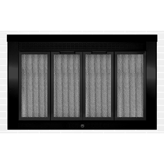 Sentry Traditional Masonry Fireplace Door in Painted Flat Black