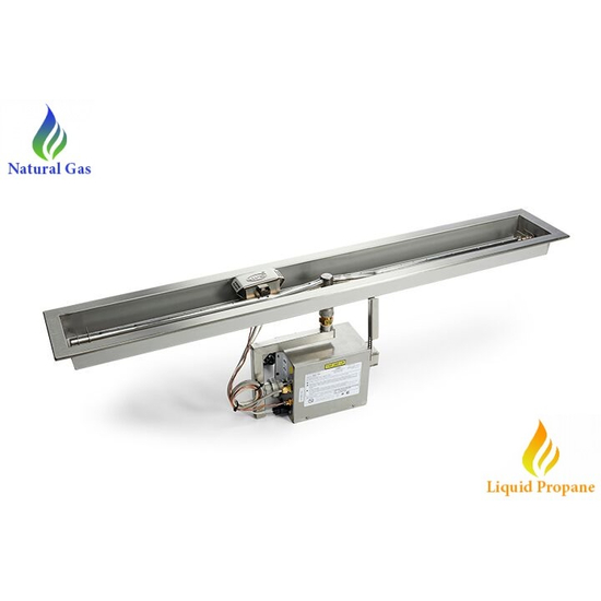 HPC 36 Inch Trough On/Off Electronic Ignition Fire Pit Insert