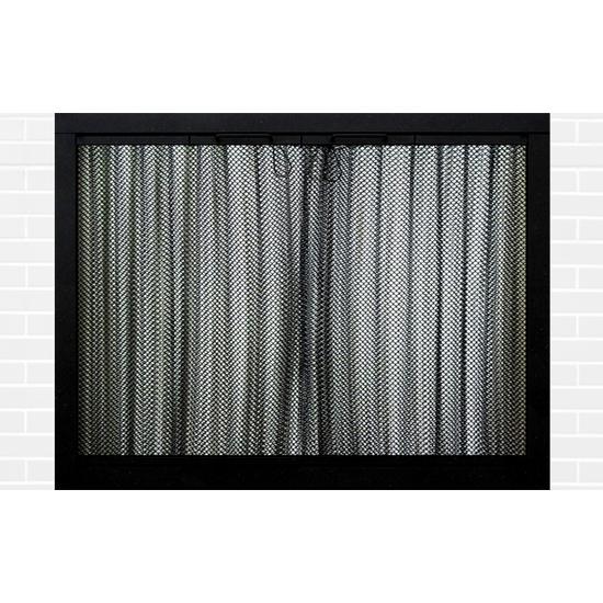 Ultraview Masonry Fireplace Door in Flat Black