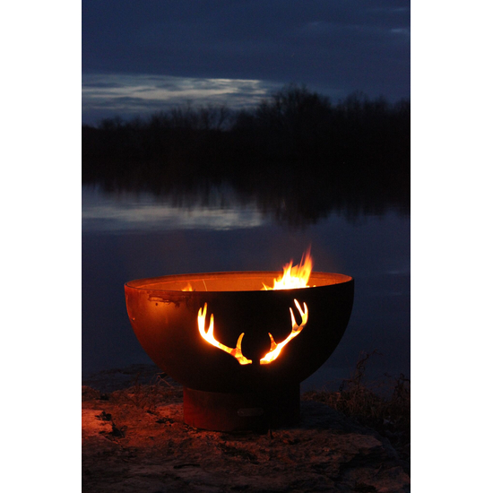 Antlers Wood Burning Fire Pit 3