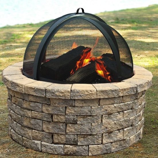 Fire Pit Screen Easy Access