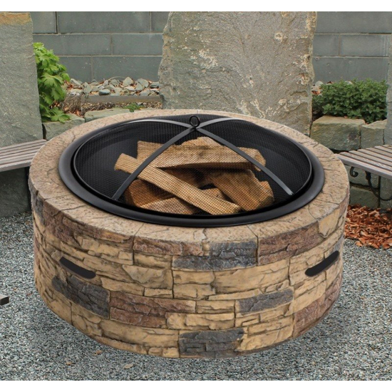 36 Inch Fire Pit Screen Easy Lift Off