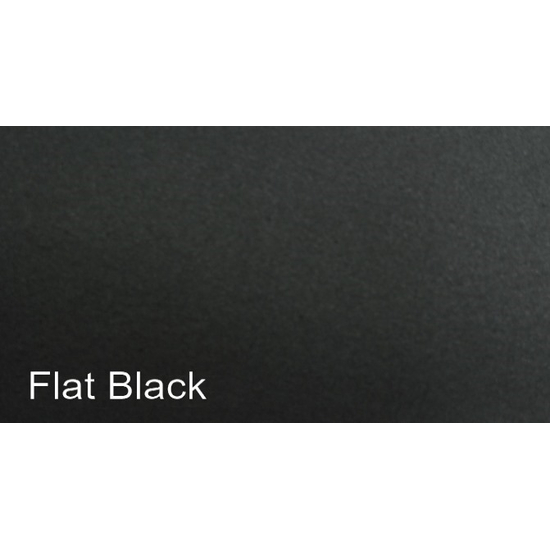 Painted Flat Black Finish