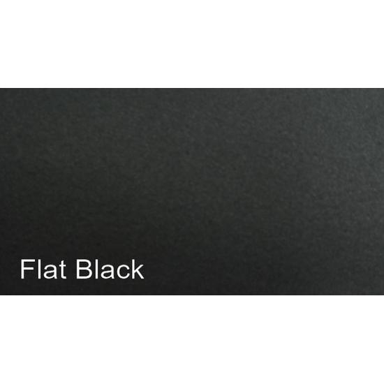 Painted Flat Black Finish
