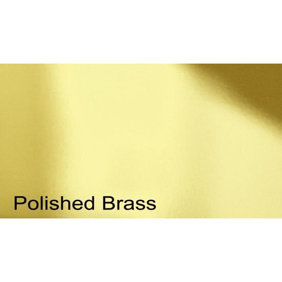 Plated Polished Brass Finish