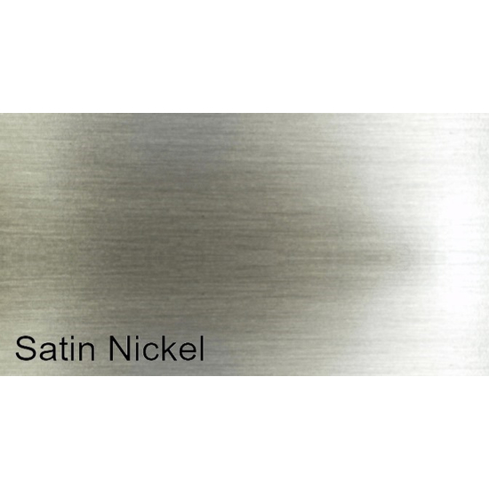Plated Satin Nickel Finish