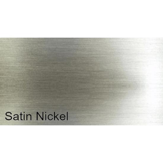 Plated Satin Nickel Finish