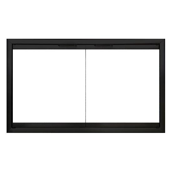 Firelyte Zero Clearance Fireplace Door in Flat Black - Cabinet Style Doors