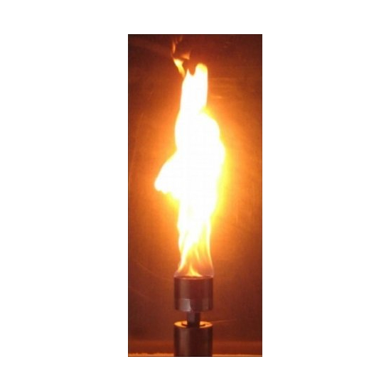 The Vulcan produces a flame just like a tiki torch!